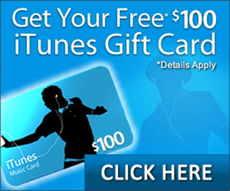 Free 100 Itunes Gift Card - get a free 100 itunes gift card get a free stuff online free stuff free coupon