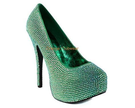 green high heeled shoes green high heel shoes