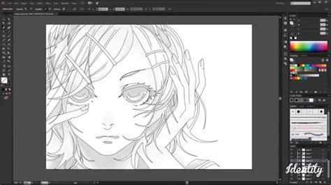 anime girl vector art illustrator pt speed art youtube