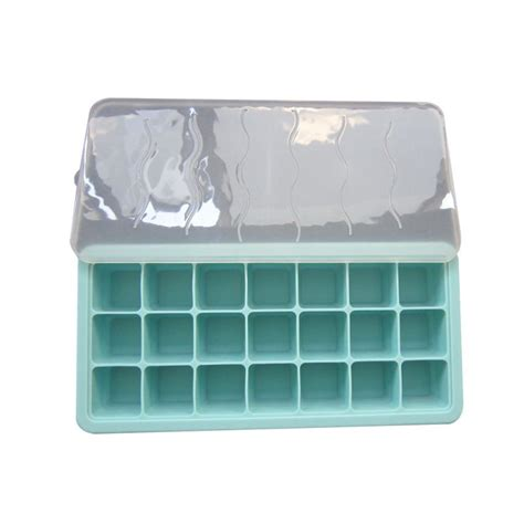 Food Freezer Cube Corn 1 cube tray mold with lid baby food storage and freezer