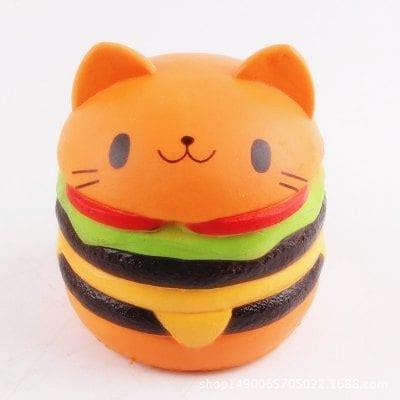 Squishy Burger burger cat ultra soft pu foam squishy 7 55 shopping gearbest