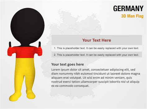 powerpoint layout germany germany 3d man flag powerpoint map slides germany 3d man