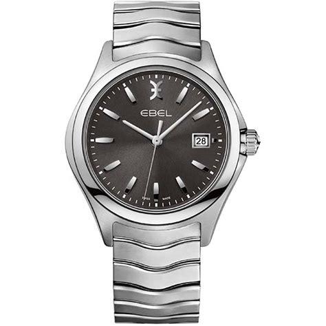 ebel s wave grey steel bracelet 1216239