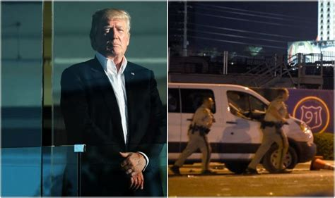 what desk did trump choose las vegas mass shooting an act of pure evil says us