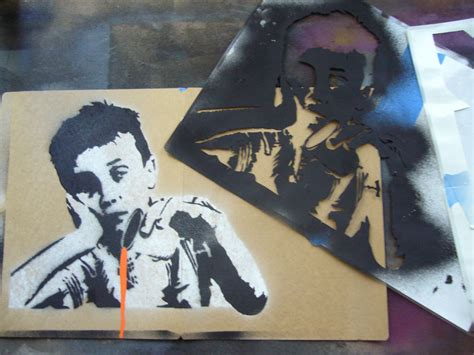 spray paint templates creating complex spraypaint stencils by 7 steps
