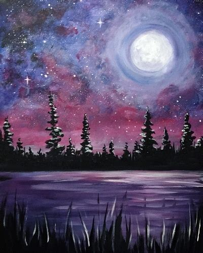 paint nite zukey lake paint nite galaxy lake ii