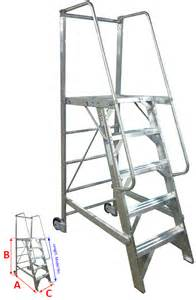 Rolling Stair by Rolling Platform Ladder Metallic Ladder Manufacturing Corp