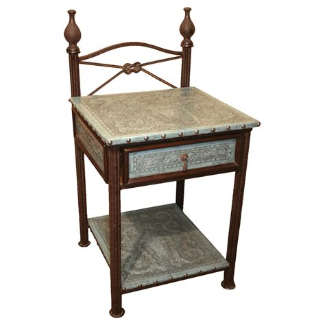Iron Nightstand Western Furniture Turquoise Western Iron Nightstand Lone