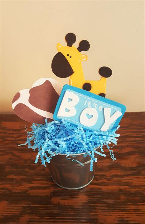 giraffe baby shower decorations for boy items similar to baby shower centerpiece blue giraffe