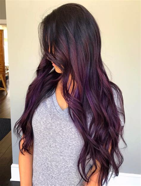 balayage hair color hair 30 brand new ultra trendy purple balayage hair color ideas