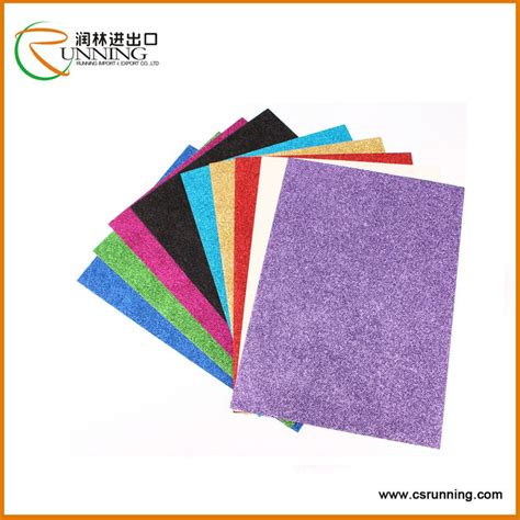 high quality of invitation card glitter cardstock paper