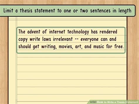 write  thesis statement  examples