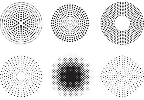 dot pattern system sewing vector dots and halftone pattern download free vector
