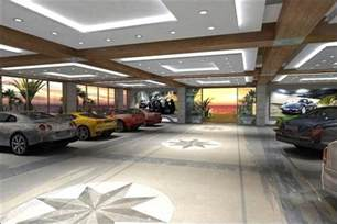Luxury Garage Designs interior modern spacious garage for car collector with some luxury