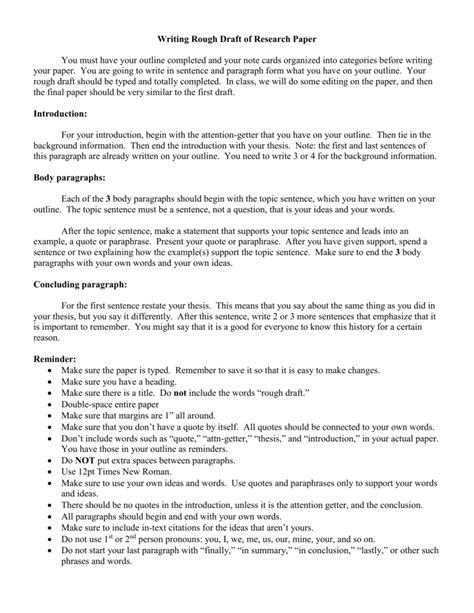 topic sentence for research paper research paper topic sentence outline