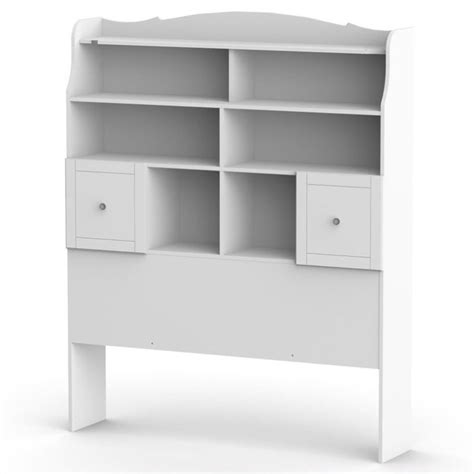 full tall bookcase headboard in white 317303