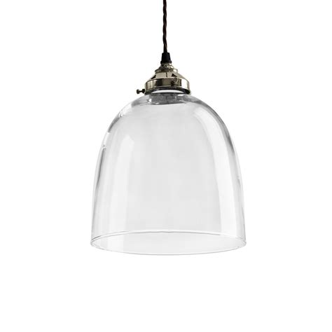 Buy Old School Electric Blown Glass Bell Pendant Nickel Glass Pendant Ceiling Lights