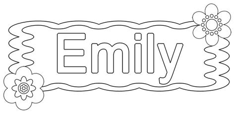 coloring pages with the name emily free coloring pages of the name emily