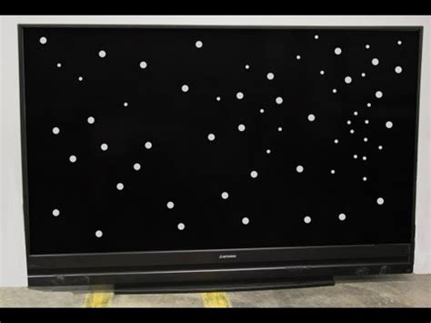 white dots on mitsubishi projection tv samsung dlp white spot dot repair funnydog tv