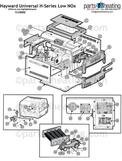 hayward ii wiring diagram hayward universal h series low nox
