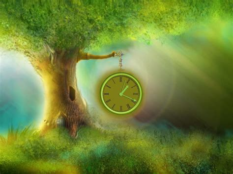 time tree magic tree clock screensaver clocks can grow on the trees