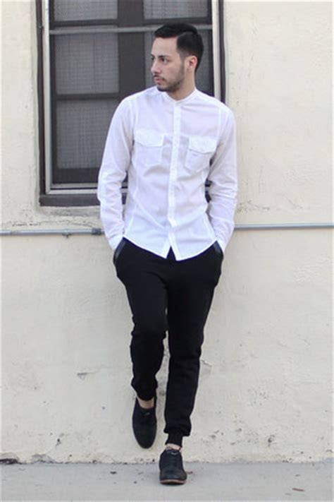 Collar Lab Jogger Basic Khaki s black royal elastics shoes white h m shirts black