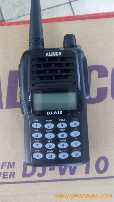 Ht Alinco Lengkap Mulus dijual ht alinco dj w10 vhf 5 watt normal mulus segel