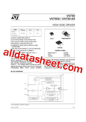 Kawasaki Microelectronics by Vn750 데이터시트 Pdf Stmicroelectronics