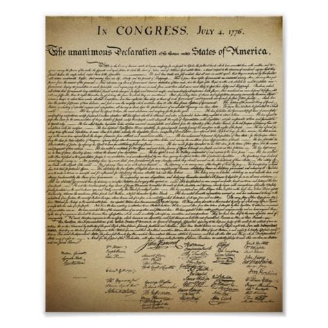 printable version of declaration of independence vintage declaration of independence print zazzle
