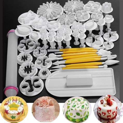 1 Set Cake Decoration Sugarcraft Cutter Fondant Cake Fondant Mold 1 46 pcs fondant cake sugarcraft decorating kits cutters tools mold mould sets new ebay