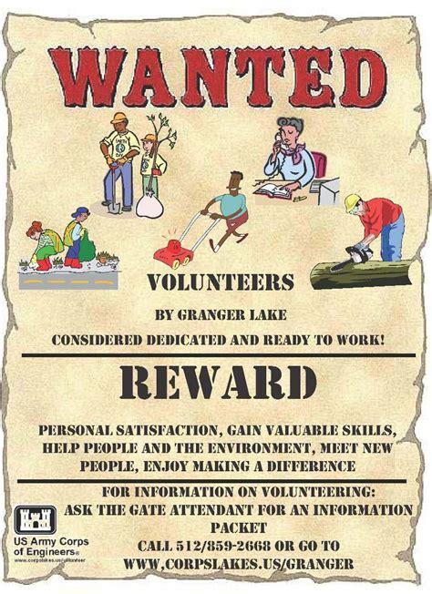 volunteers wanted poster template volunteer news