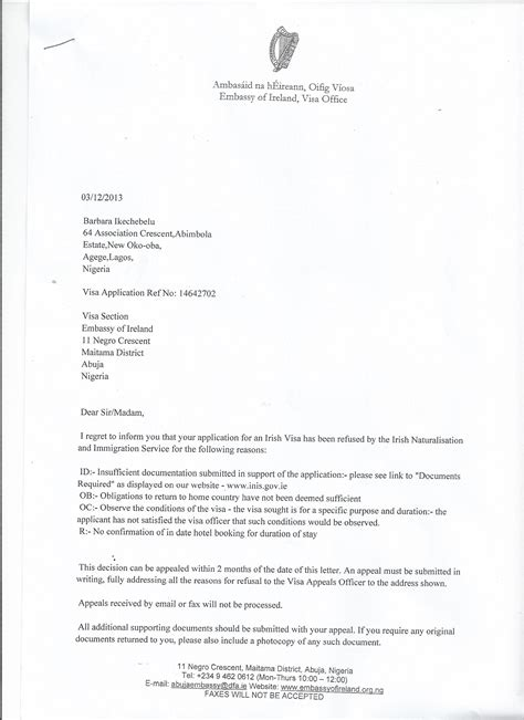Embassy Appeal Letter Sles Affordable Price Application Letter For Uk Visa