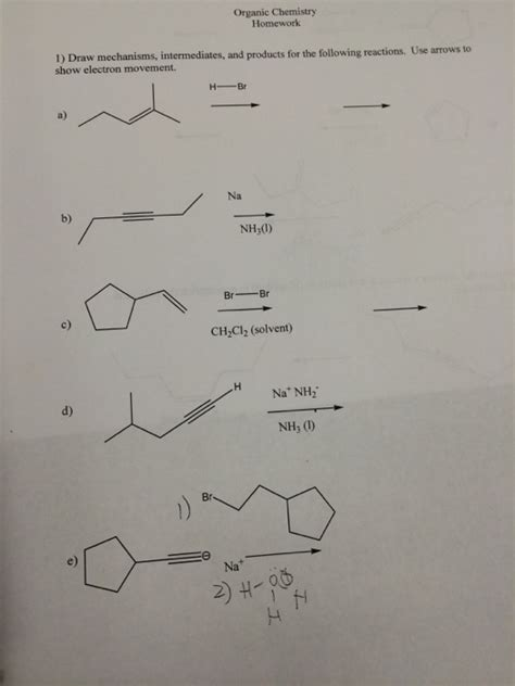 doodle how to make mechanism organic chemistry draw the mechanisms intermediat