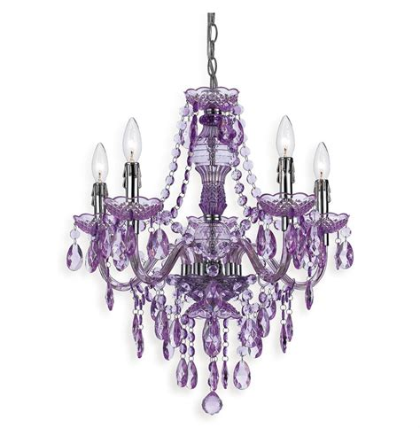 Lavender Global Bazaar Bohemian 5 Light Beaded Swag Chandelier Purple Chandeliers