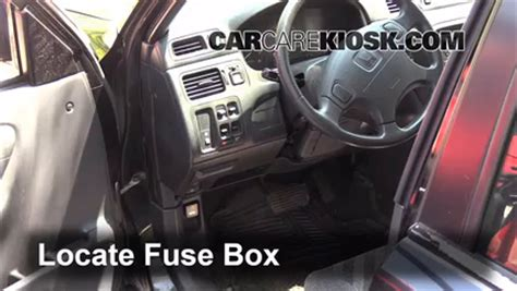 interior fuse box location: 1997 2001 honda cr v 2000