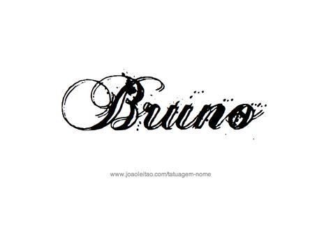 desenhos de tatuagem com o nome bruno