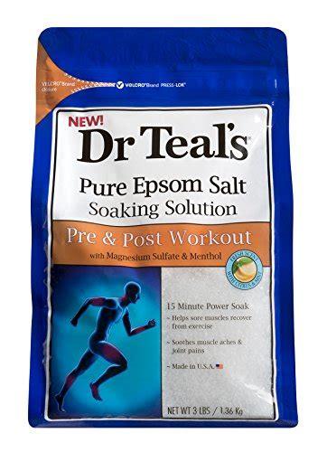 Epsom Salt Soak Detox by Dr Teal S Pre Post Workout Soak 3 Lbs