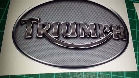 triumph boat decals triumph perforated metal effect tank decals stickers x4
