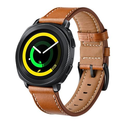 Genuine Leather Band Samsung Gear Sport 2017 Sm R600 leonidas genuine leather band for samsung gear sport band metal closure clasp releast