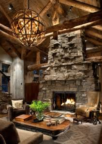 Texas Leather Interiors Great Room Fireplace Rustic Living Room Other Metro