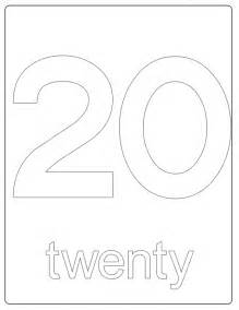 Number 20 Pictures Images &amp  Becuo sketch template