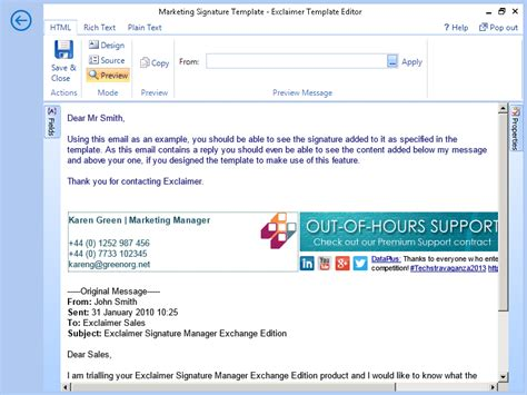 Template Editor Screenshots Exclaimer Electronic Signature Policy Template