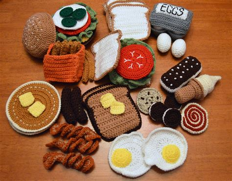 crochet cuisine fo friday crochet play food a of this and a