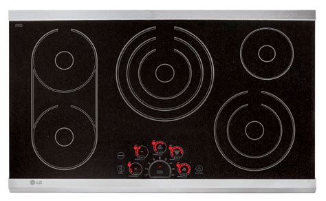 Radiant Cooktop Lg 36 Inch Radiant Cooktop In Stainless Steel The Home