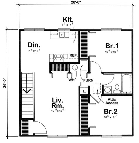 2 bedroom apartment floor plans garage garage plan chp 43133 at coolhouseplans com