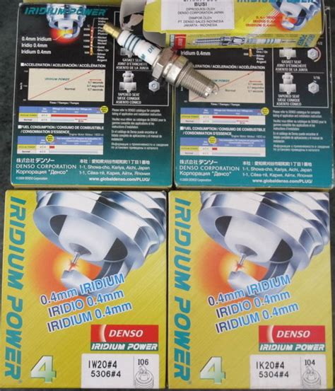 Busi Iridium Power Denso Ik20 Mobil Bmw Series 3 5 7 baru busi mobil iridium power denso japan spark plugs