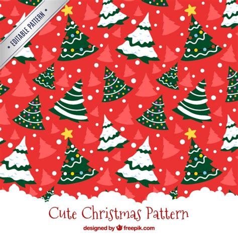 christmas pattern ai christmas tree red pattern vector free download
