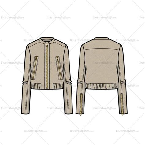 bomber jacket template leather bomber jacket flat template illustrator stuff