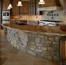 Stone Kitchen Islands Rustic Stone Kitchen Island For The Home Pinterest