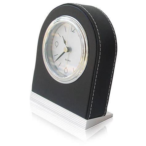 tuda  shipping   leather fashion mute alarm clock traditional needle alarm clock luxury